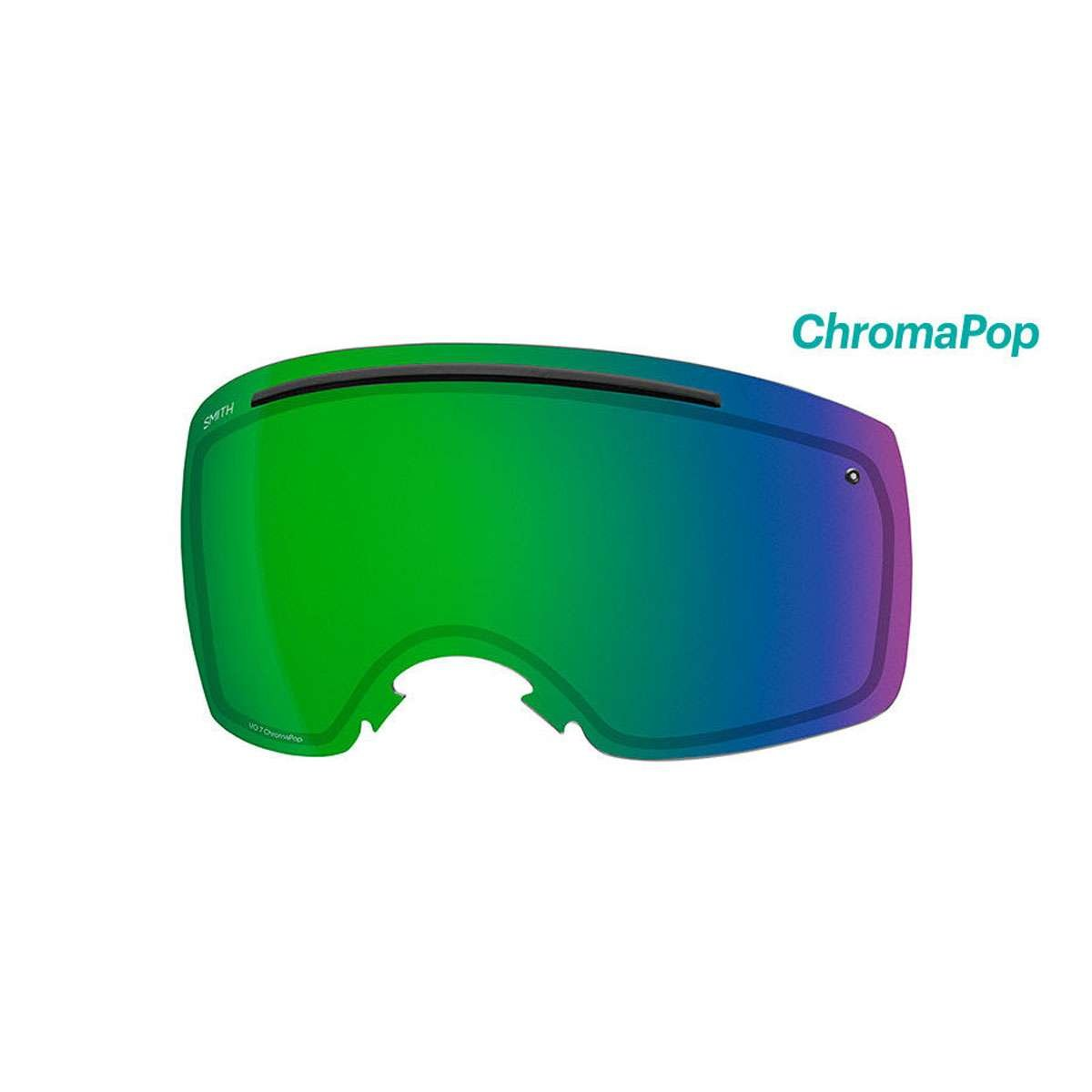 Smith I/O7 Replacement Lens- ChromaPop I/O7 / Everyday Green Mirror 23% VLT by Smith Optics