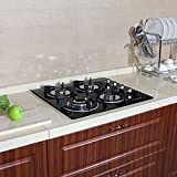 CLEARANCE-LIMITED-QUANTITY-24-Black-Electric-Tempered-Glass-Built-in-Kitchen-4-Gas-Burner-Cooktop