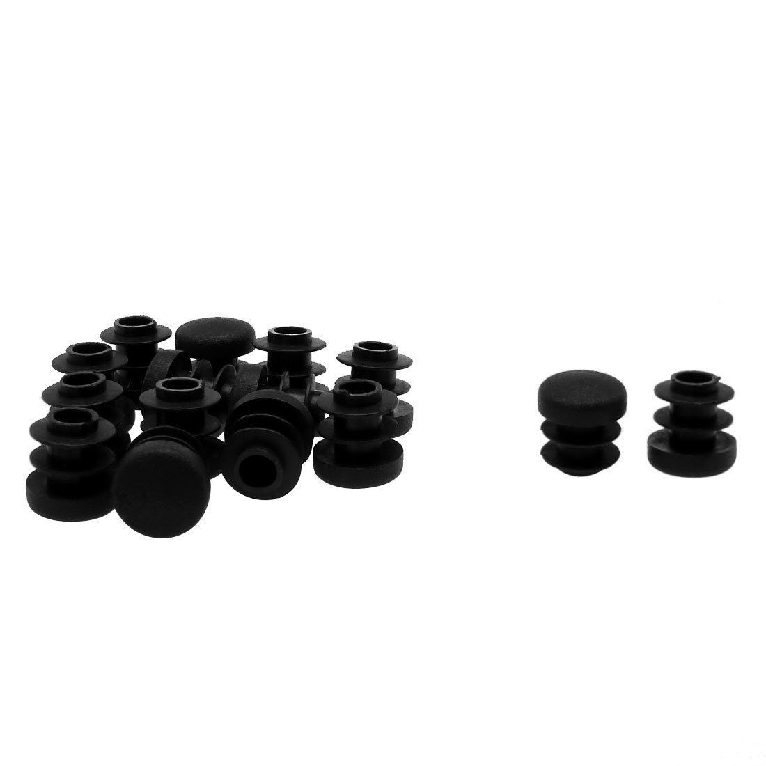 Floor Furniture Chair Cabinet Protector uxcell 3//4 20mm OD Plastic Round Tube Ribbed Inserts End Cover Caps 12pcs 0.67-0.75 Inner Dia