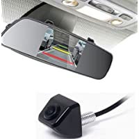 Factory Style Rear Backup Camera and 4.3 Inch Mirror Screen Kit for Vehicles