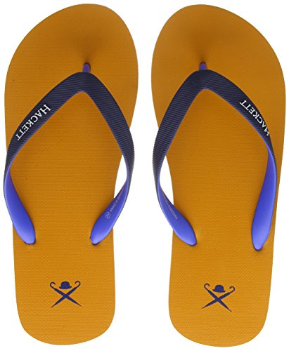 para Naranja Hackett Chanclas Logo Hombre London Orange Plain AxRFx7w