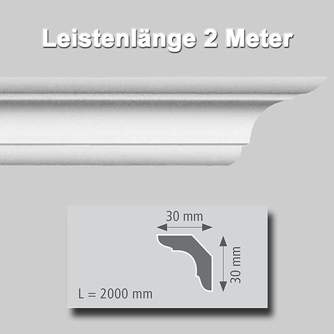 Zierprofile extrudiert aus Polystyrol 50//40 mm