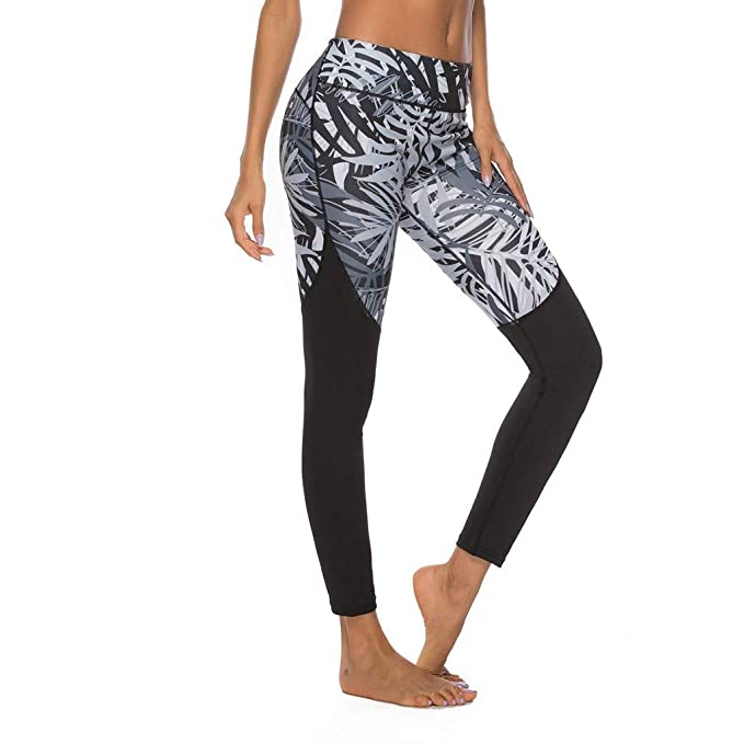 RISTHY Pantalones Yoga Deportivos Mujer Estampado Pantalones ...