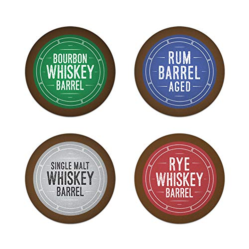 Aged Rye Bourbon - Bourbon Barrel Aged K-Cups Coffee 24ct Variety Pack Set, Single Origin Coffee Paired with Bourbon, Rye Whiskey, Malt Whiskey and Rum, 24ct