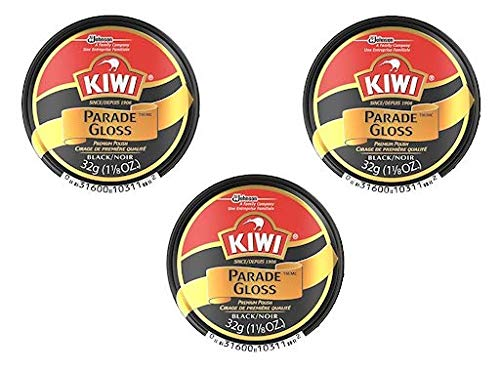 (Kiwi Parade Gloss Premium Shoe Polish Paste, 1-1/8 Ounce, Black - 3 Pack)