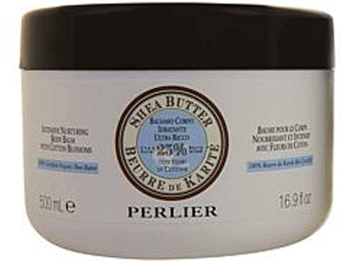 PERLIER Shea Butter Body Cream with Cotton Blossoms Jumbo Size