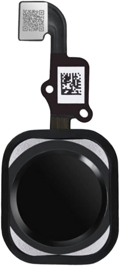Afeax Compatible with Home Button Main Key Flex Cable Replacement for iPhone 6S and 6S Plus (Black)