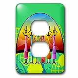 3dRose lsp_205174_6 African American Woman Designer Art Original 2 Plug Outlet Cover
