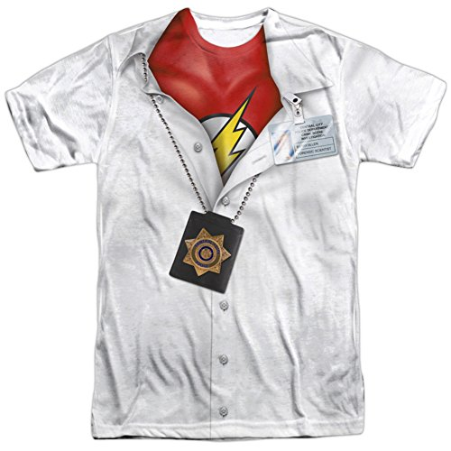 Crimson Bolt Costume (The Flash- Secret Identity Costume Tee T-Shirt Size M)