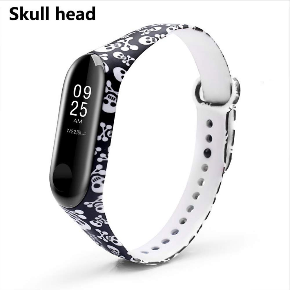 Amazon.com: BOORUI Miband 3 Strap Mi band 3 Accessories Replacement silicone varied wrist strap for xiaomi mi 3 smart bracelets (Skull Head) Ideal for any ...
