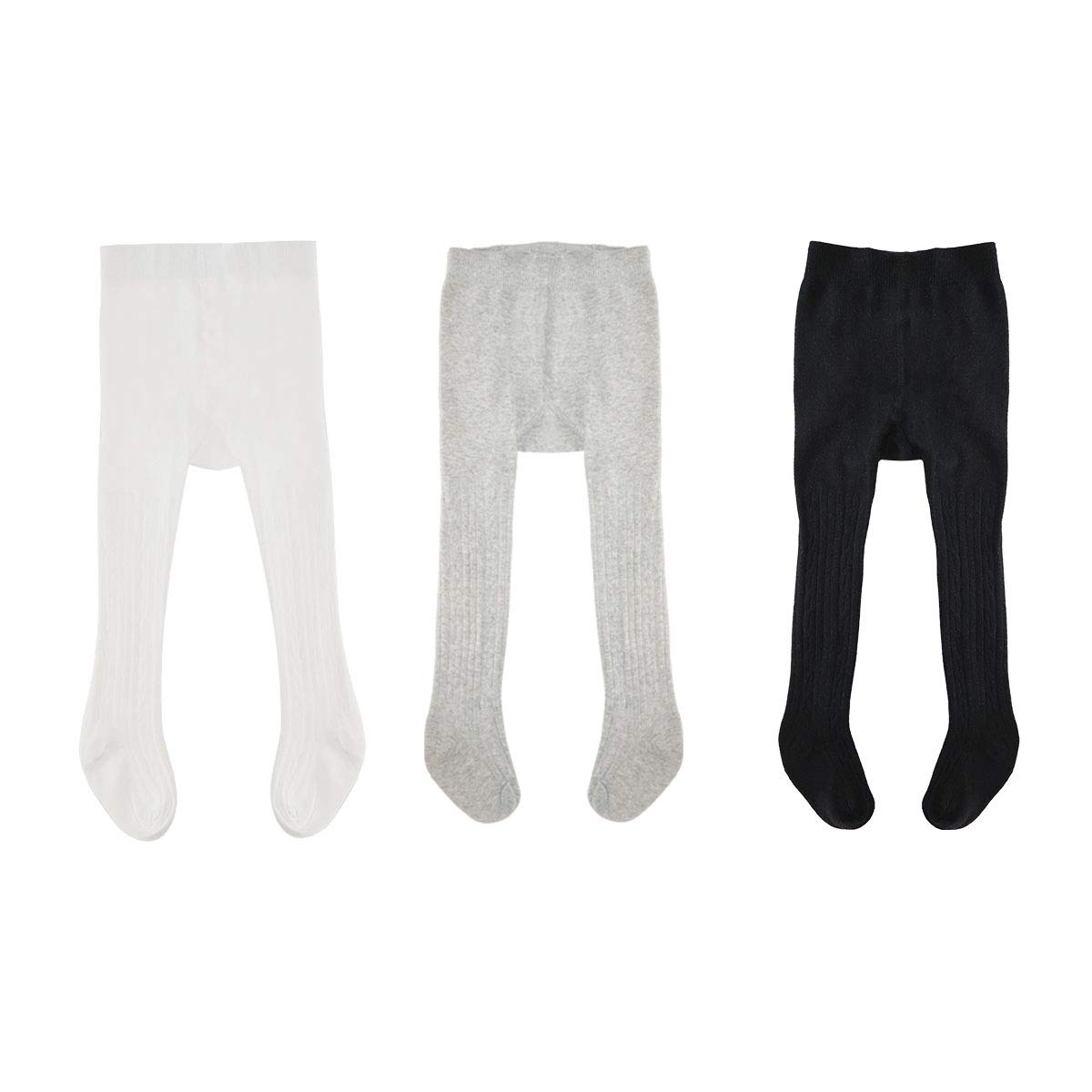 db7483328 Amazon.com  Baby Girls Boys Toddler Cable Knit Knee High Leggings Pants  Tights Panties Stockings Socks(Pack of 3-5 pairs)  Clothing