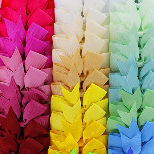 80Piece Grosgrain Ribbon Hair Bows Boutique Pinwheel Bow Alligator Clips For Children Toddlers Teens Gifts In Pairs
