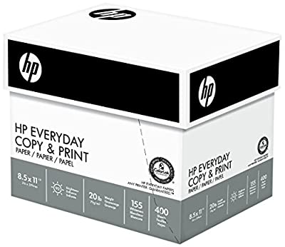 HP Everyday Copy and Print , 20lb, 8-1/2 x 11., 92 Bright, (200010C), 2400 Sheets/Two 6 Ream Cases