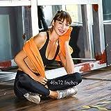 Rainleaf Microfiber Towel,Orange,16 X 32 Inches