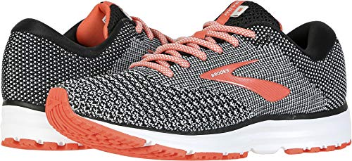Brooks Women's Revel 2 Black/Light Grey/Coral 5 B US by Brooks (Image #3)