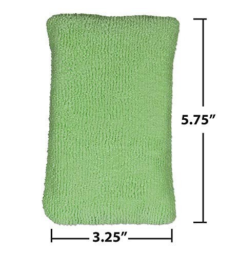 CleanAide Double Sided Wash and Scour Home and Kitchen Absorbent Cleaning Sponge