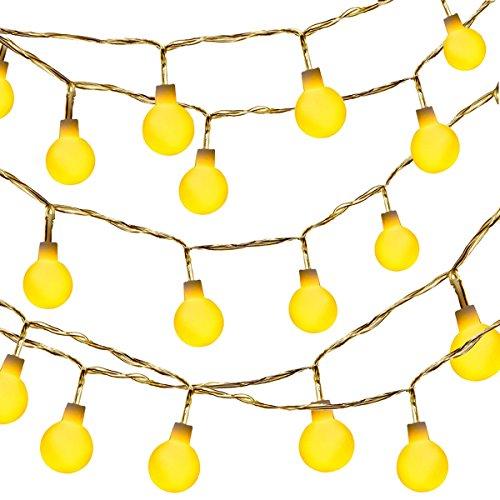 Globe String Light,Dailyart LED Starry Light Fairy Light for Garden,Wedding,Xmas Party (WW, Battery-powered, 13feet/4meters)