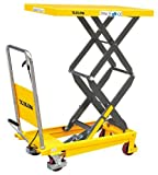"Double Scissor Lift Cart Table Truck Hydraulic 770 LBS Capacity 52"" Max. Lift Height - Xilin SPS350"