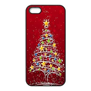 iPhone 5 5s Cell Phone Case Black Christmas Tree Wdsrb