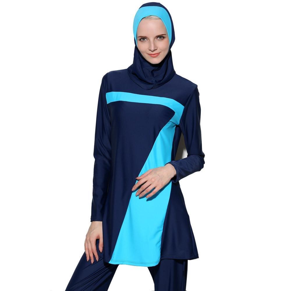 Dame Islamische Muslime Full-Cover-Bademode Frauen Modest Beachwear Schwimmanzüge