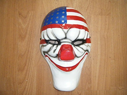 WRESTLING MASKS UK Dallas - Payday 2 Thermo Plastic - Cosplay Mask -