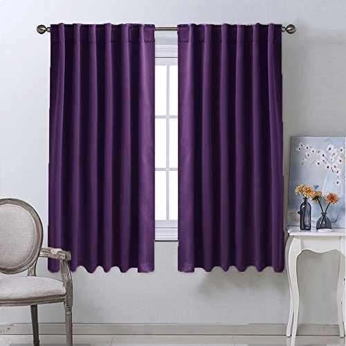 Facets Brown Room Darkening Blackout Insulated Kitchen: From USA Blackout Curtains Window Panel Drapes