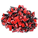 KEDSUM 200pcs Adhesive Cable Clips, Wire Clips, Car Cable Organizer, Cable Wire Management, Drop Cable Clamp Wire Cord Tie Holder for Car, Office and Home