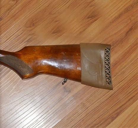 Kingwolfox Rifle Rubber Buttstock Pad Shotgun Slip-on Recoil Pad Shoulder Protector Brown