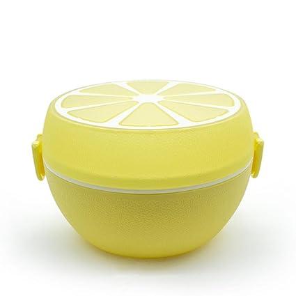 Horno de microondas doble plástico naranja Curacao los niños loncheras (Pack 2) , yellow