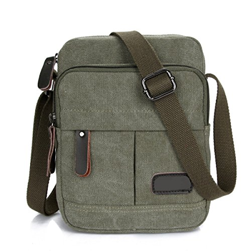 Männer Vintage-Leinwand Messenger Ipad Tote Schule Freizeit Tasche,B-17cm*5cm*23cm