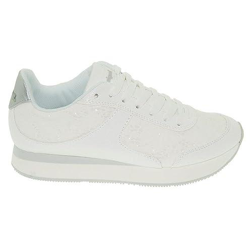 Desigual - Zapatillas de Material Sintético para Mujer Weiß: Amazon.es: Zapatos y complementos