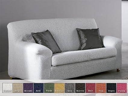 Eysa - Funda de sofá elástica moran, medidas 4 plazas, color fucsia
