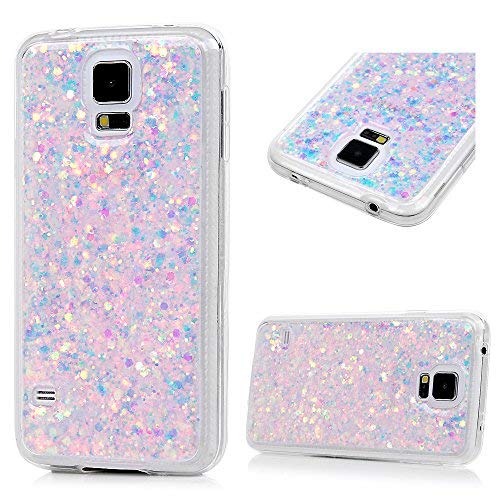 size 40 d5d99 11776 Galaxy S5 Case, YOKIRIN Luxury Sparkle Powder 3D Diamond Paillette Bling  Slim Glitter Flexible Soft Rubber Gel TPU Protective Shell Hybrid Bumper  Case ...