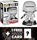 First Order Snowtrooper: Funko POP! x Star Wars Vinyl Bobble-Head Figure w/ Stand + 1 FREE Official Star Wars Trading Card Bundle [62231]