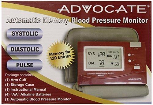 Advocate Kd-5750 L Arm Blood Pressure Monitor - Large Cuff