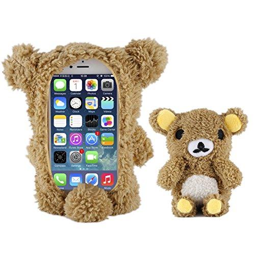 Moonmini® Élégant Mignon Nounours 3D Poupée Jouet en Peluche Housse Etui Case Protective Coque Pour iPhone 6 4.7 Pouce - Brown
