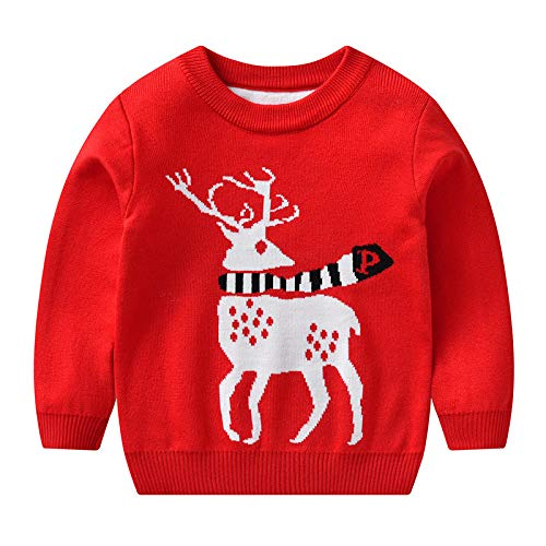 Cute Reindeer Outfit For Christmas Toddler//Kids Long sleeve T-Shirt Girls Boys