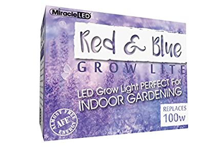 MiracleLED 604431 Red/Blue Spectrum LED Grow Lightbulb