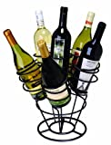 Oenophilia Bottle Bouquet Wine Rack, Black - 6 Bottle