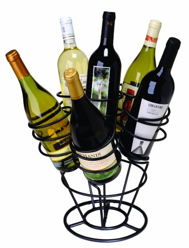 - Oenophilia Bottle Bouquet Wine Rack, Black - 6 Bottle