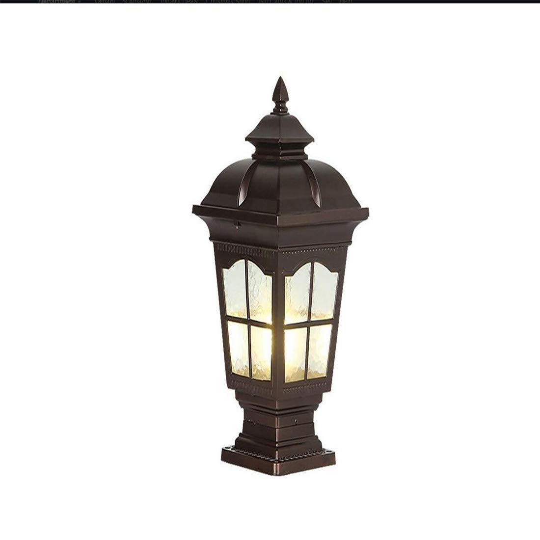 E27 Socket Landscape Lighting Fixture Garden Fence Prato Patio Fence Lampade Doorway impermeabile Illuminazione esterna (colore  Nero)