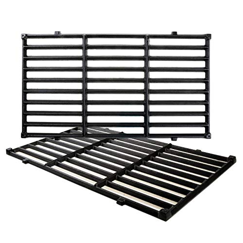 (Uniflasy Cast Iron Grill Cooking Grid Grates Replacement Parts Accessories for Weber Spirit 200 Series Gas Grills, Weber 7637)