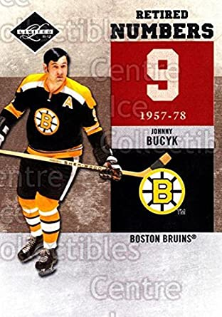 (CI) Johnny Bucyk Hockey Card 2011-12 Limited Retired Numbers 1 Johnny Bucyk a858d0671