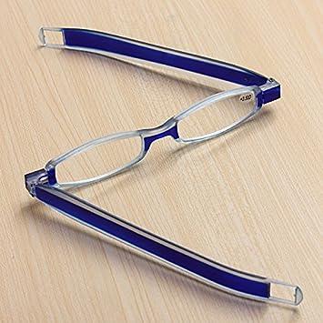 d2b0d372201 DCDEAL Blue 360 Degree Rotation Rotating Folding Presbyopic Reading Glasses  Eyeglasses Portable Readers With Pocket Clip