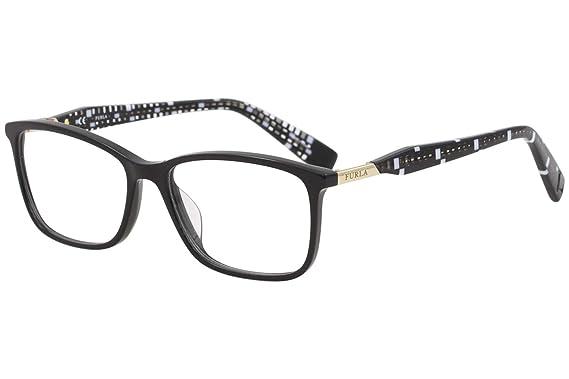 7763caa1e5 Furla Women s Eyeglasses VFU028 VFU 028 0700 Black Full Rim Optical ...