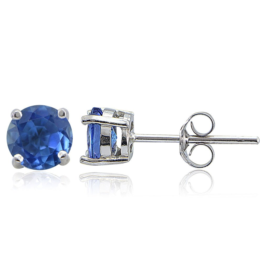 d06c3f2d0 Amazon.com: Sterling Silver Genuine Kyanite 5mm Round Stud Earrings: Jewelry