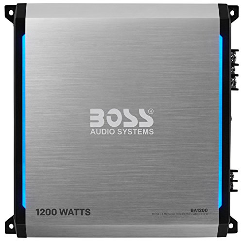 BOSS Audio Elite BA1200 Monoblock Car Amplifier – 1200 Watts, Class A/B, 2-4 Ohm Stable, MOSFET Power Supply - 1200 Bass Amplifier