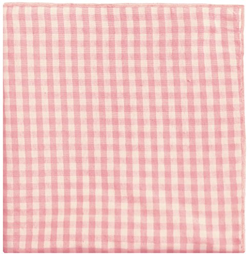 Light Pink & White Check w/ White Button Men's Pocket Square by The Detailed Male by The Detailed Male (Image #1)