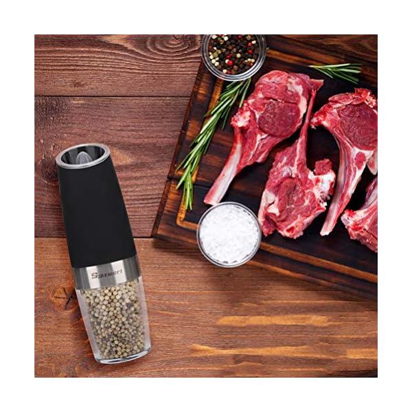 Macinapepe Elettrico, pepe Premium e macina di sale con macina sale elettrico durevole regolabile di precisione… 6