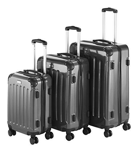 vonhaus-3-piece-extra-strong-abs-tsa-luggage-set-grey